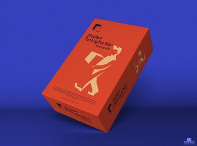 Modern Packaging Box Free Mockup