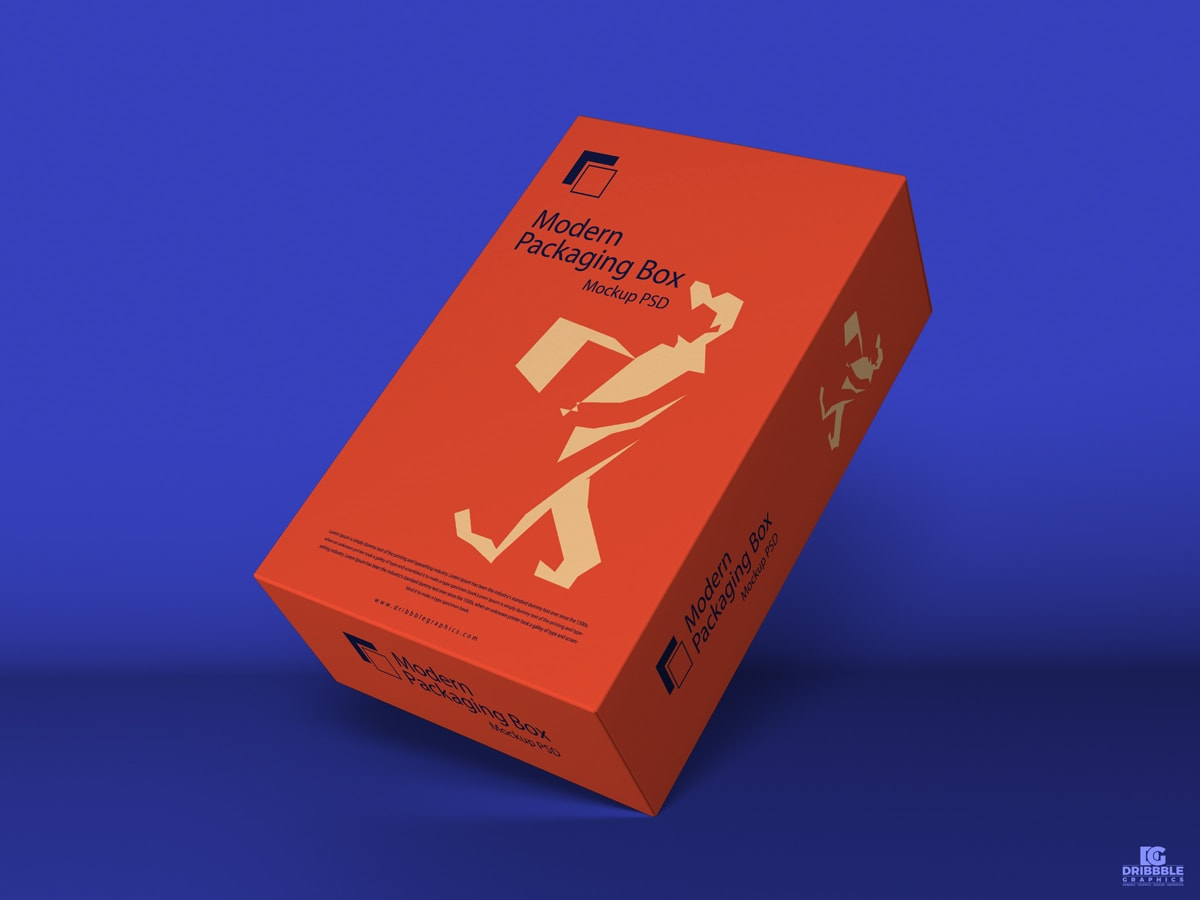 Modern Packaging Box Free Mockup