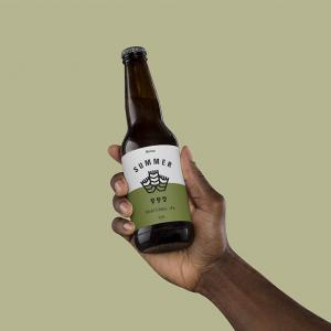 Hand Holding Beer Free Mockup