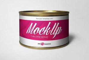 Free Can Preserve Mockup