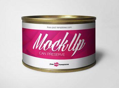 Free Can Preserve Mockup