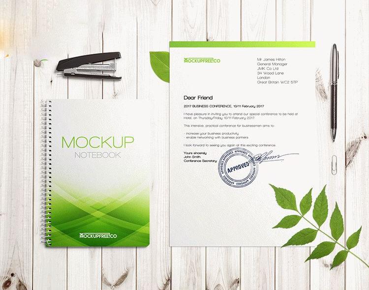 Floral Stationery Branding 2 Free Mockups