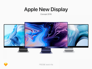 Apple New Display Concept Free Mockup
