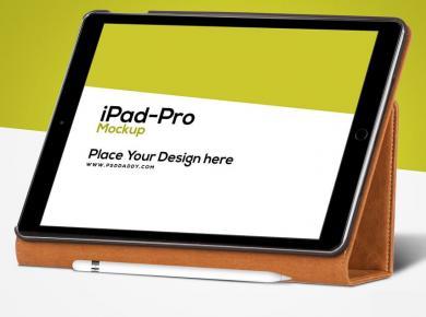 iPad Pro with Pencil Free Mockup