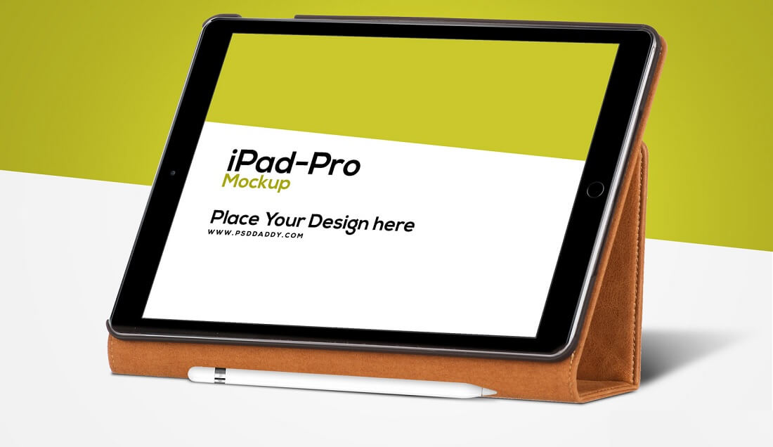 iPad Pro with Pencil Free Mockup