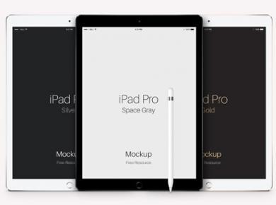iPad Pro Vector Free Mockup