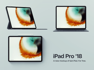 iPad Pro With Three Views Free Mockup