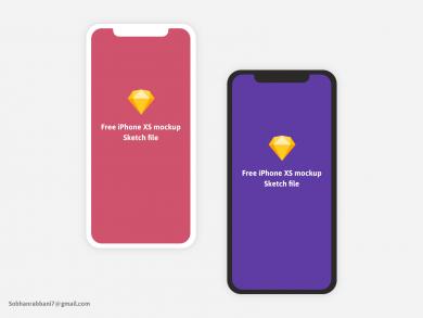 Free iPhone X and XS Minimal Mockup