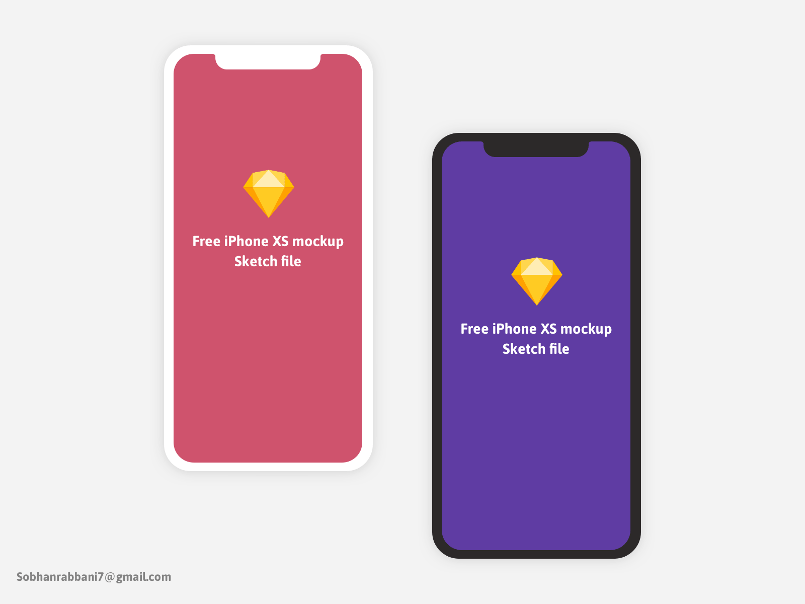 Free iPhone X and XS Minimal Mockup