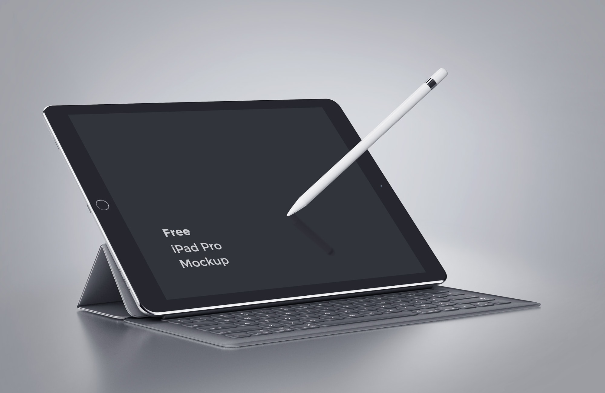 iPad Pro With Movable Pencil Free Mockup