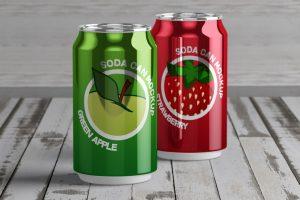 Soda Can Free Mockup