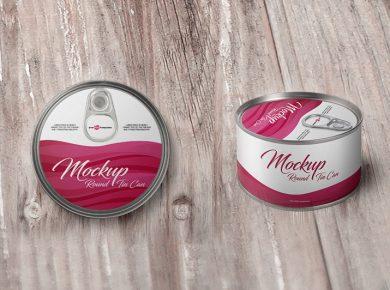 2 Free Round Tin Can Free Mockup