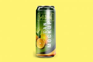 Soft Drink Can Free Mockup