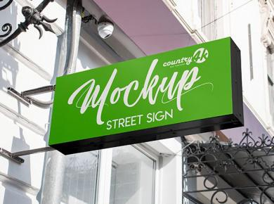 Free Street Sign Mockup