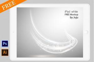 Free iPad White Mockup