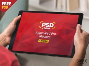 iPad Pro in Hand Free Mockup