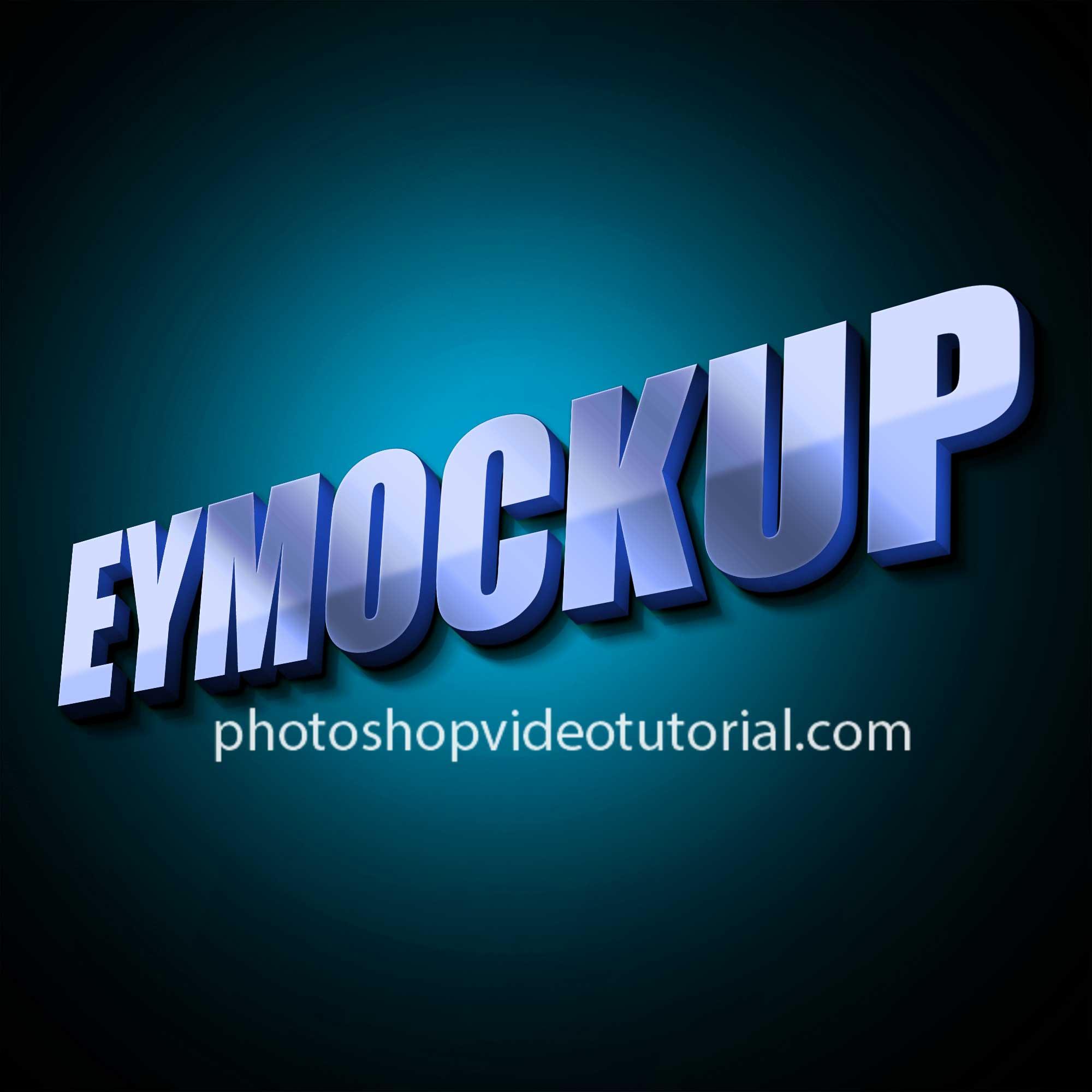 3D Glow Logo Free Mockup