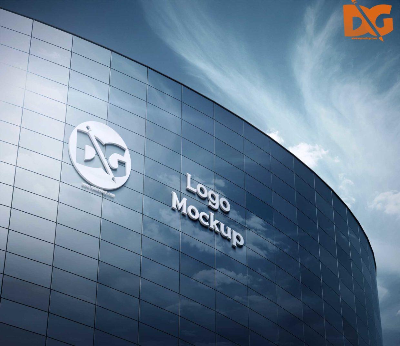 Building 3D Logo Free Mockup
