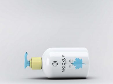 Classy Dispenser Bottle Free Mockup