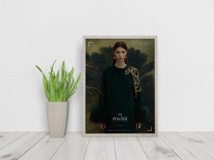 Elegant Interior Framed Poster Free Mockup