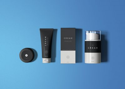 Essential Cosmetics Packaging Set Free Mockups