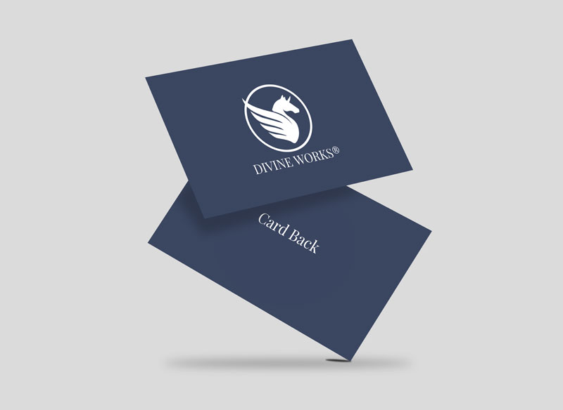 Floating Business Card Mock-up