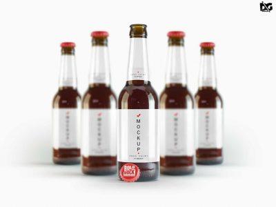 Free Beer Bottle Label Mockup