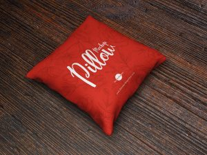 Free Brand Square Pillow Mockup