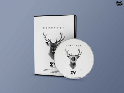 Free CD Packaging Mockup