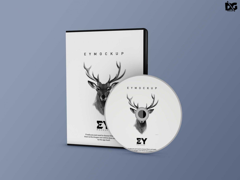 Free CD Packaging Mockup