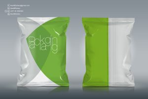 Free Chips Foil Bag Packaging Mockup