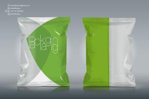 Free Chips Foil Bag Packaging Mockup