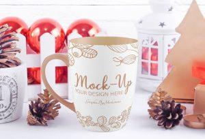 Free Christmas Mug Mock-ups
