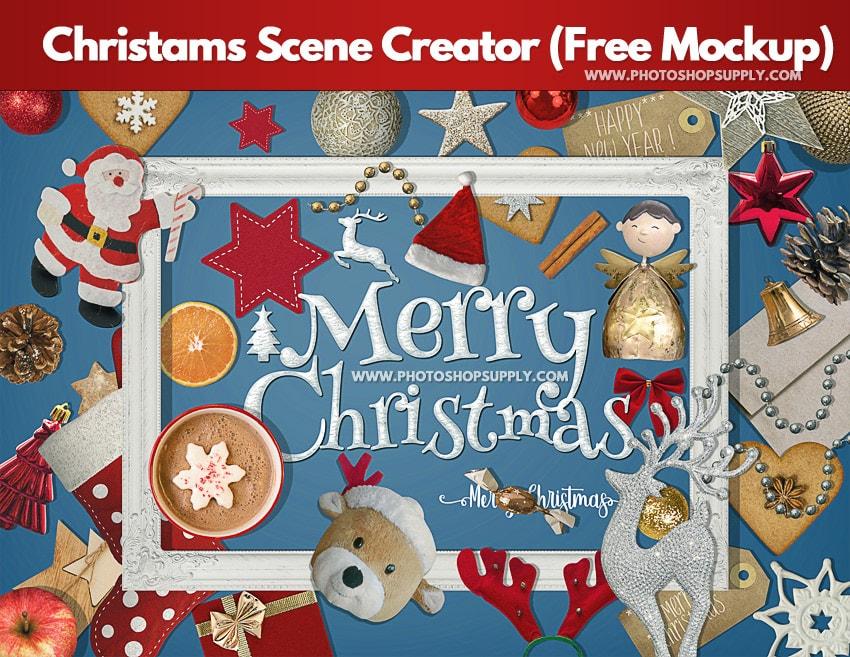 Free Christmas Photo Frame Mockups
