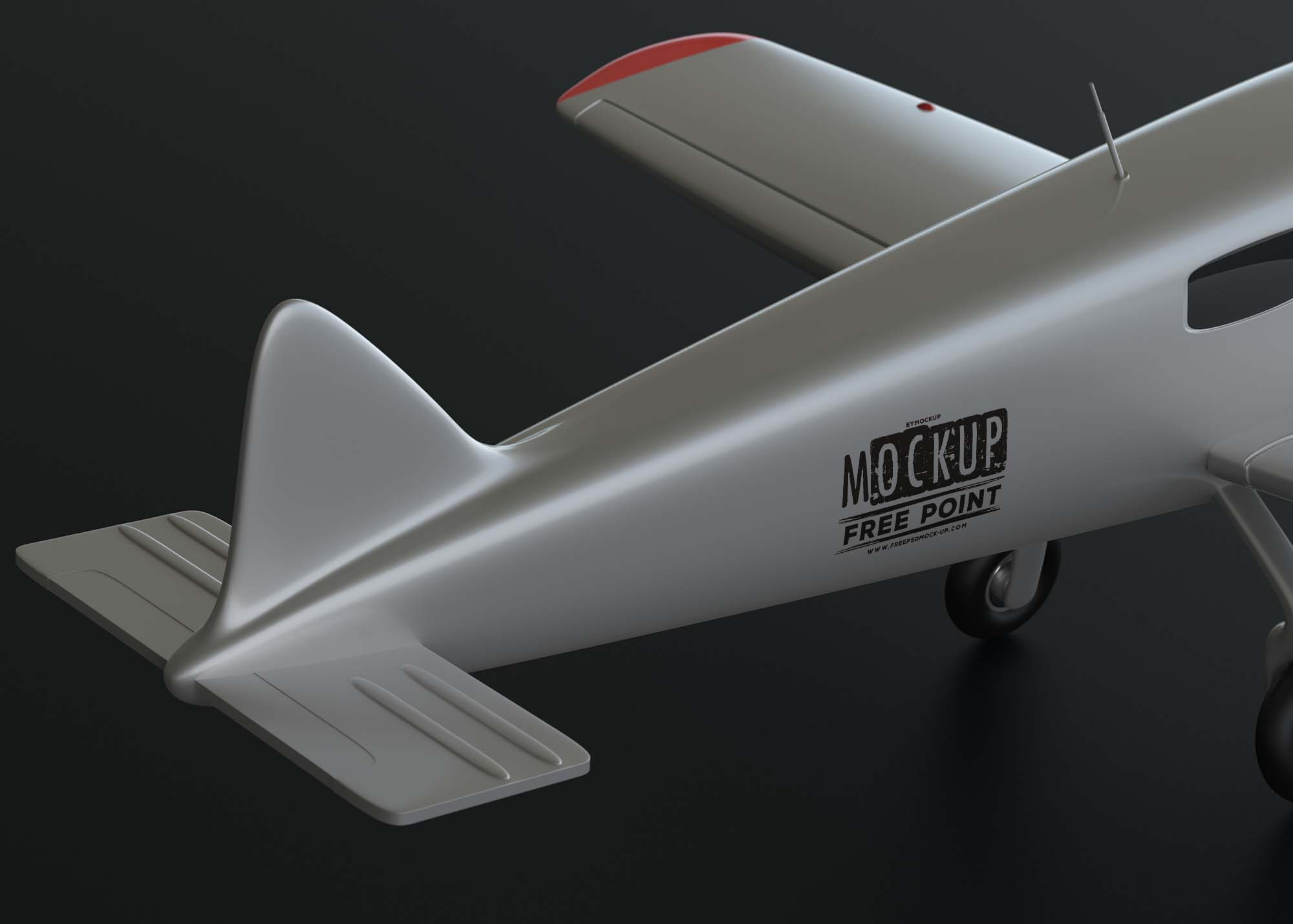 Free Custom Artwork Plane Mockup