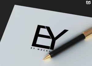 Free Custom Promotional Pen Mockup