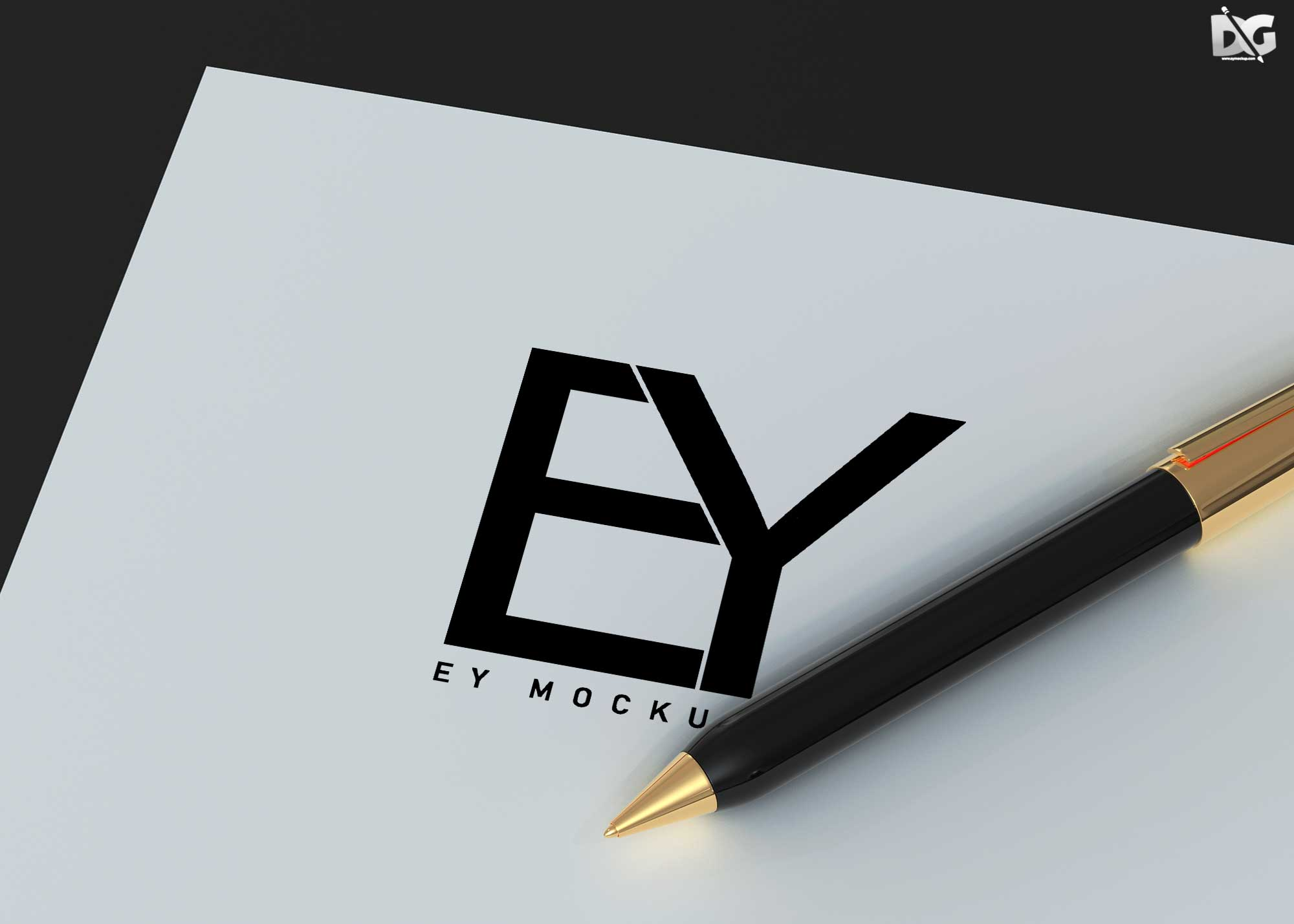 Free Custom Promotional Pen Mockup
