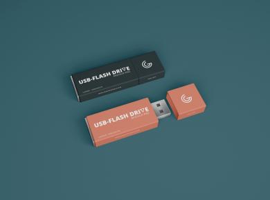 Free Flash Drive Mockup
