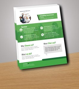 Free Flyer Mock-up Design