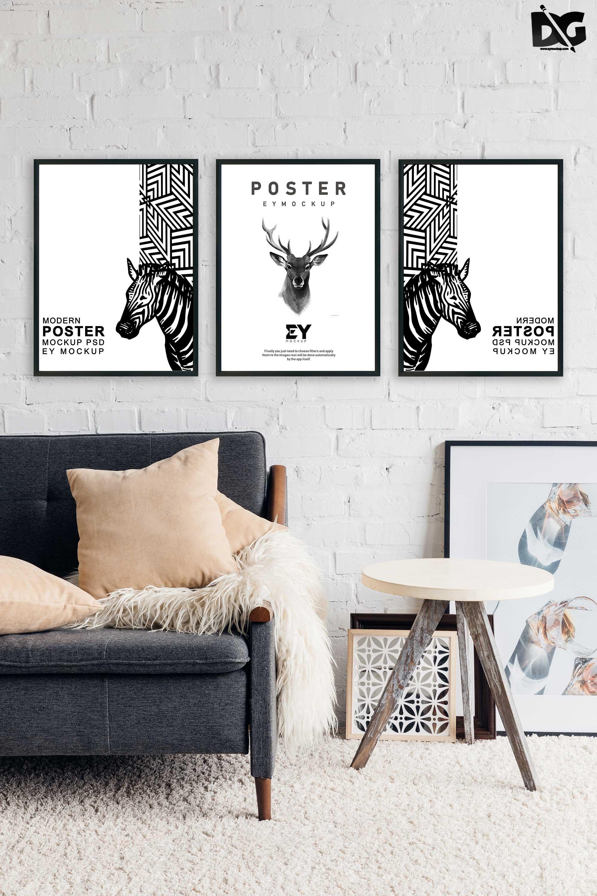 Free Frame Poster Mock-Ups