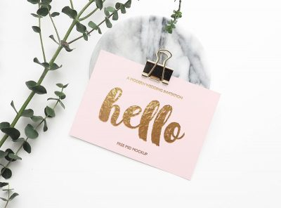 Free Greeting Card Mockups