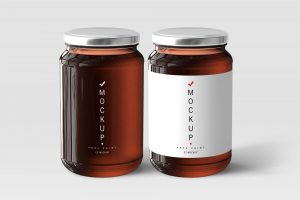 Free Honey Jar Mockups