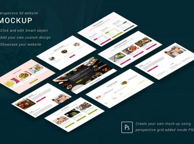 Free Isometric Website mockups