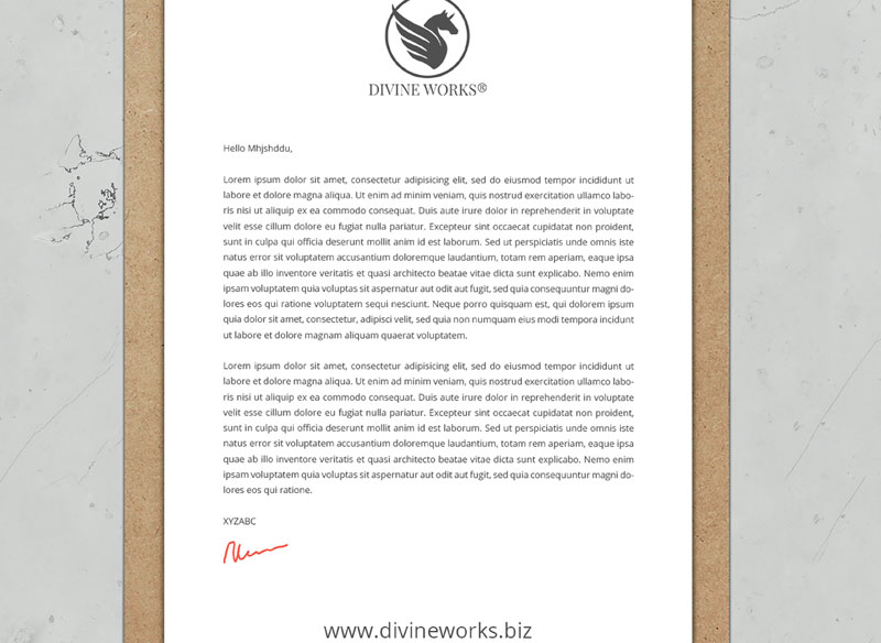 Free Letterhead On Clipboard Mock-up