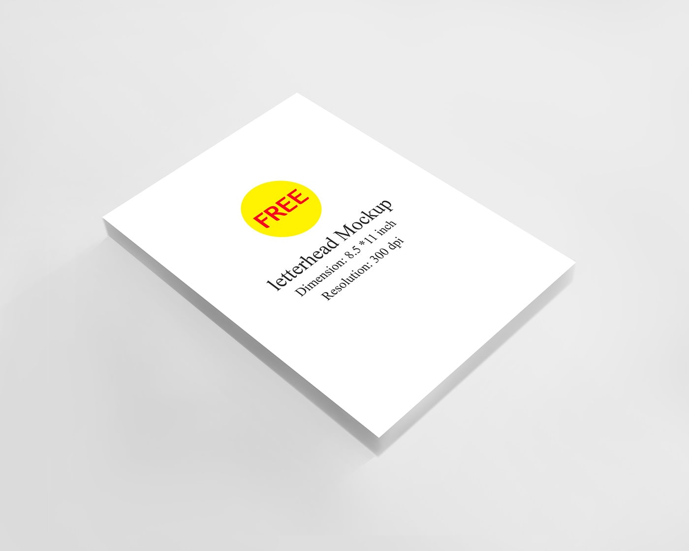Free Letterhead PSD Mockup