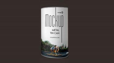 Free Metal Tin Can Mock-ups