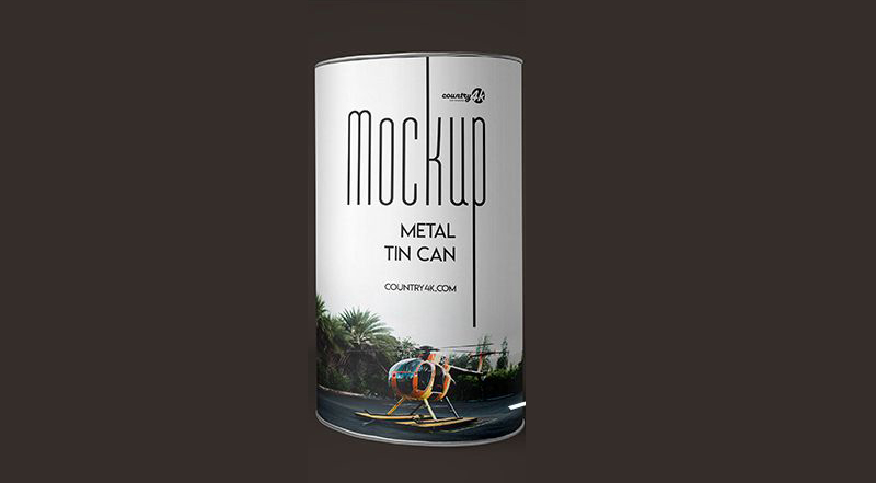 Free Metal Tin Can Mock-ups