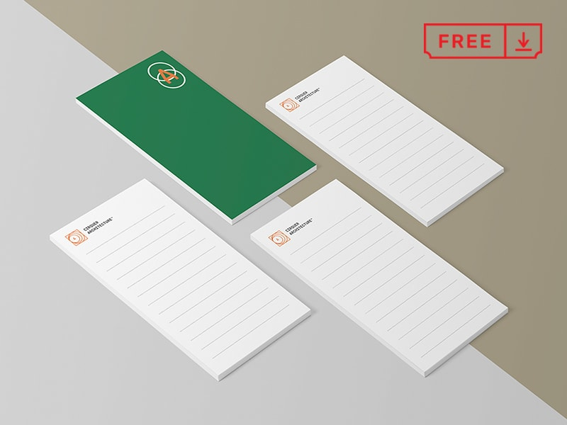 Free Notepads Mockup