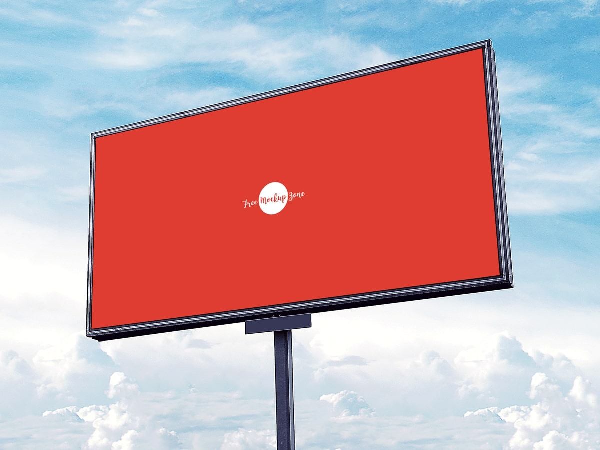 Free Outdoor Advertisement Sky Billboard Mockup