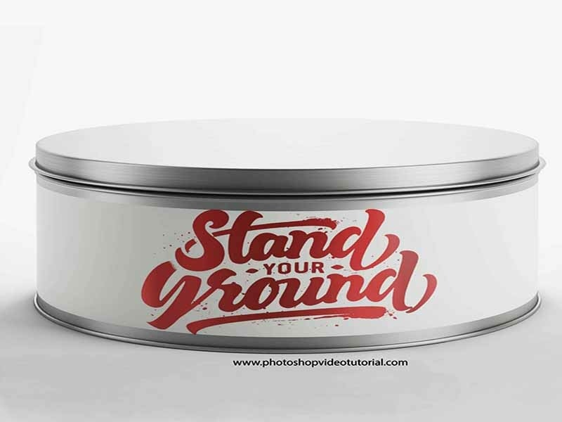 Free Paint Can Mockup